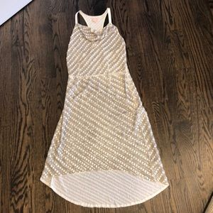 Tracey Reese White & Silver Grey Sequin Dress sz 2